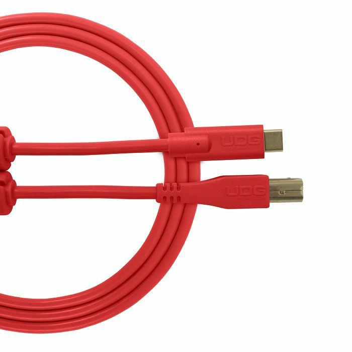 UDG - UDG Ultimate Straight USB 2.0 Type C-B Audio Cable (1.5m, red)