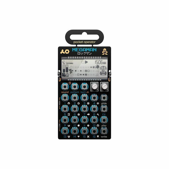 TEENAGE ENGINEERING - Teenage Engineering PO-128 Mega Man Pocket Operator Live Synthesiser & Sequencer