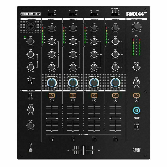 RELOOP - Reloop RMX-44 BT 4-Channel DJ Mixer With Bluetooth Connectivity