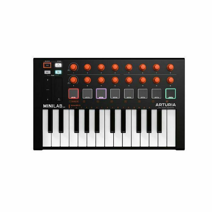 ARTURIA - Arturia Minilab MKII Inverted Edition 25-Key MIDI Controller Keyboard (limited orange edition)