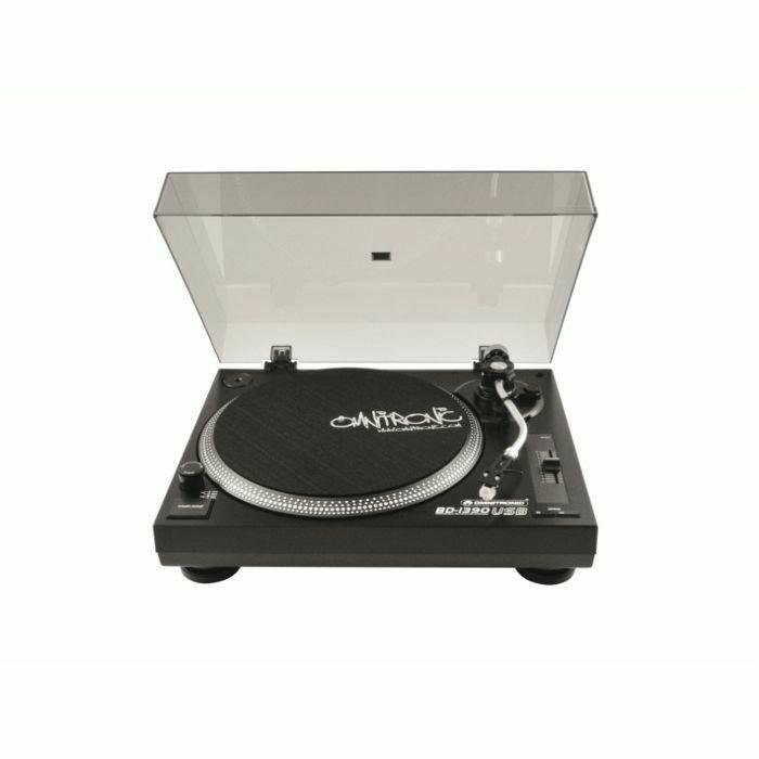 OMNITRONIC - Omnitronic BD-1390 Belt Drive USB DJ Turntable (black) (B-STOCK)