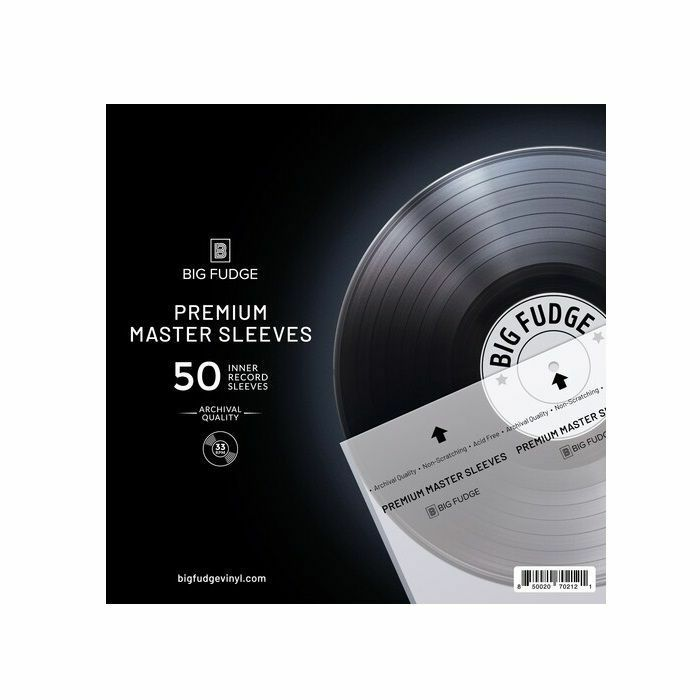 "BIG FUDGE - Big Fudge 12"" Clear Paper Vinyl Record Sleeves (pack of 50)"
