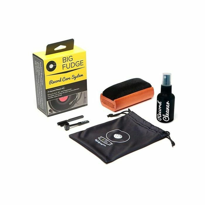 BIG FUDGE - Big Fudge Vinyl Record Cleaner Kit With Record Brush, Stylus Brush, Cleaing Liquid & Travel Pouch