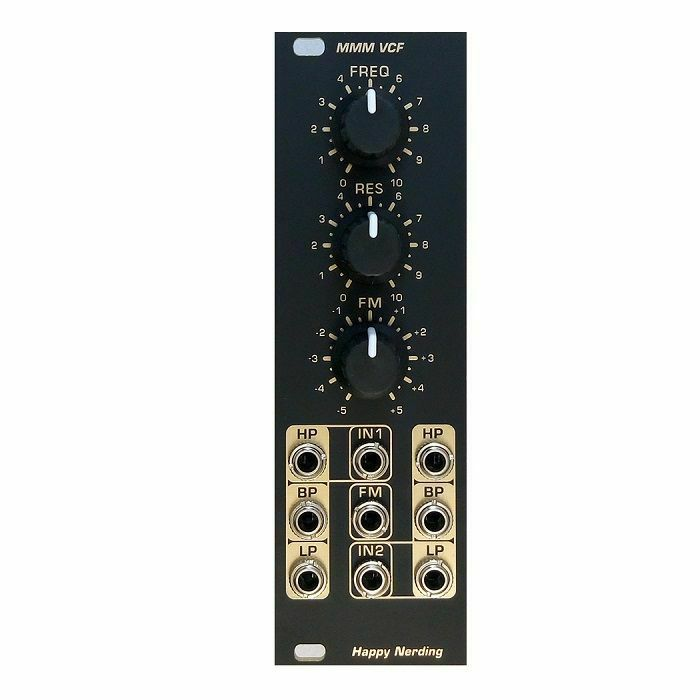 HAPPY NERDING - Happy Nerding MMM VCF Moog Multi Mode Voltage Controlled Filter Module (black faceplate) (B-STOCK)
