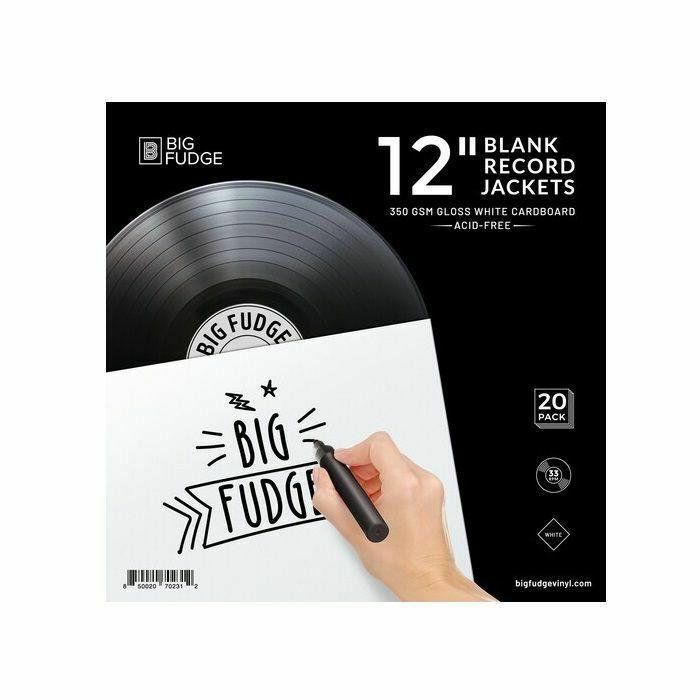 """BIG FUDGE - Big Fudge 12"""" Matte White Paper Vinyl Record Jackets (set of 20)"""
