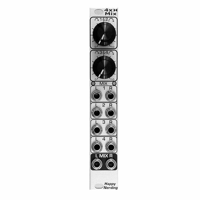 HAPPY NERDING - Happy Nerding 4xSTEREO MIX Quad Stereo Mixer Module (silver faceplate)