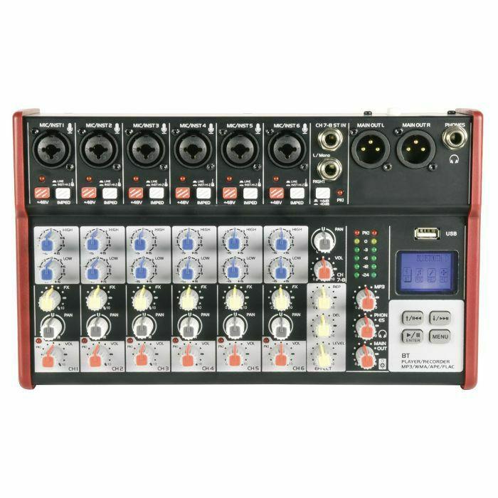 CITRONIC - Citronic CSM-8 Mixer With USB & Bluetooth Player (B-STOCK)