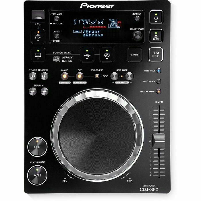 PIONEER DJ - Pioneer DJ CDJ-350 Digital Multi CD USB Player (black) (B-STOCK)