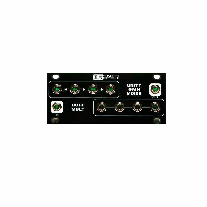 SYNTHROTEK - SynthRotek 1U UniBuffer Module (black faceplate) (B-STOCK)