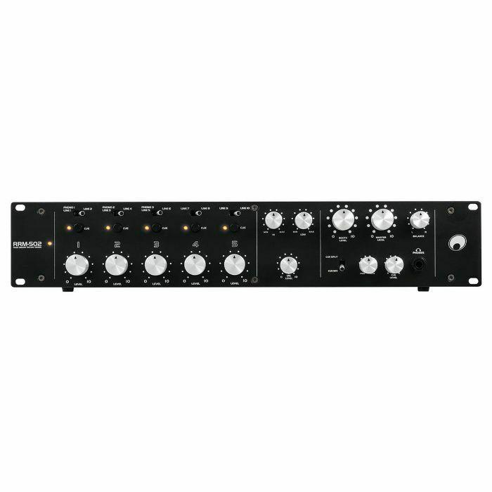 OMNITRONIC - Omnitronic RRM-502 Rackmount 5 Channel Rotary DJ Mixer (B-STOCK)