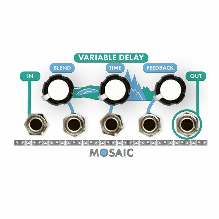 MOSAIC - Mosaic Variable Delay Module (white faceplate)