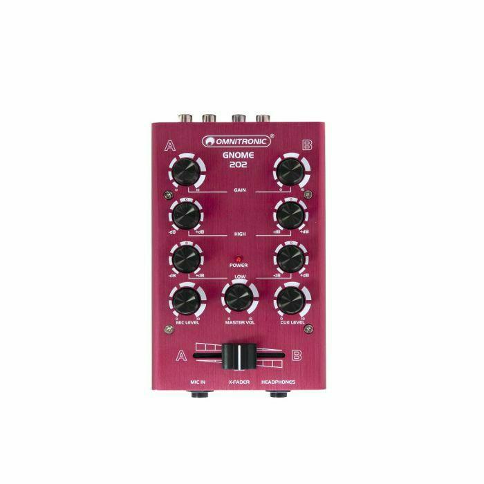 OMNITRONIC - Omnitronic Gnome 202 Mini DJ Mixer (red) (B-STOCK)