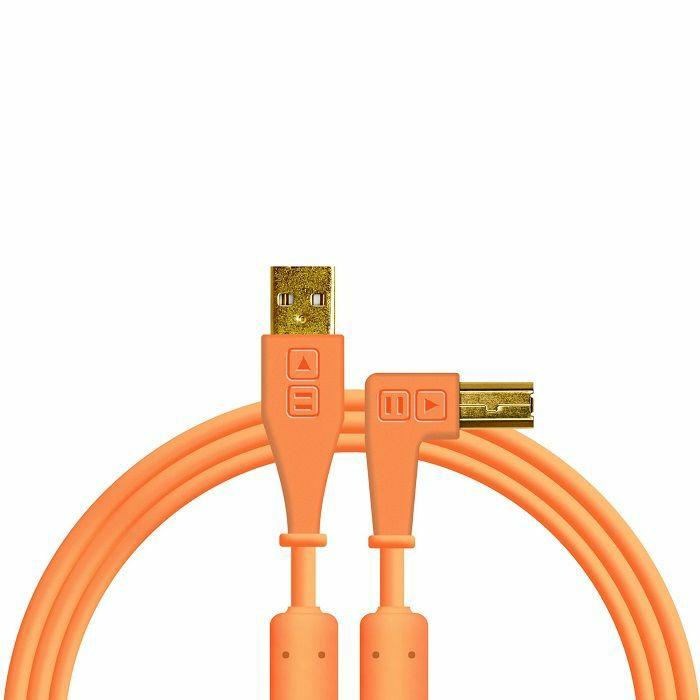 DJ TECH TOOLS - DJ Tech Tools Right Angled USB Chroma Cable (neon orange, 1.5m)