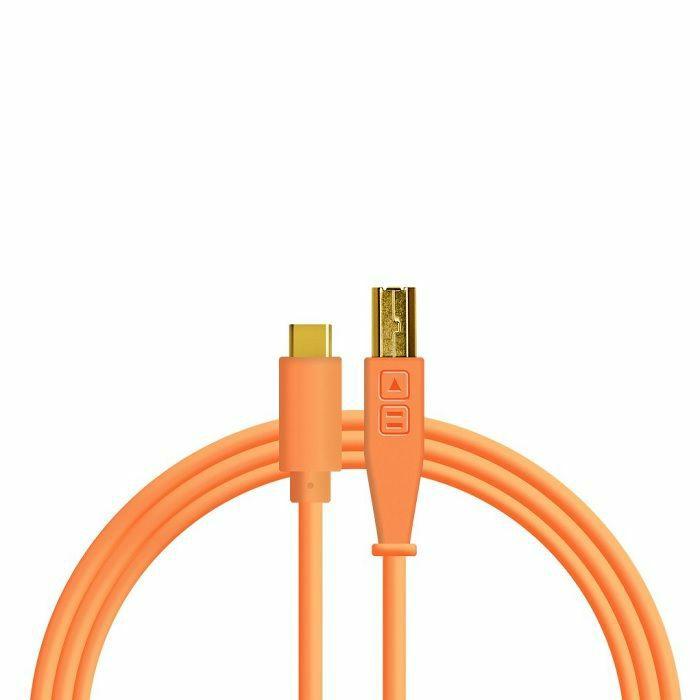 DJ TECH TOOLS - DJ Tech Tools USB-C Chroma Cable (neon orange, 1.5m)