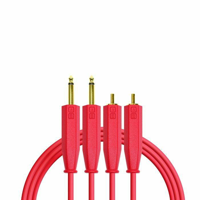 "DJ TECH TOOLS - DJ Tech Tools ¼"" To RCA Chroma Audio Cable (red, 1.5m)"