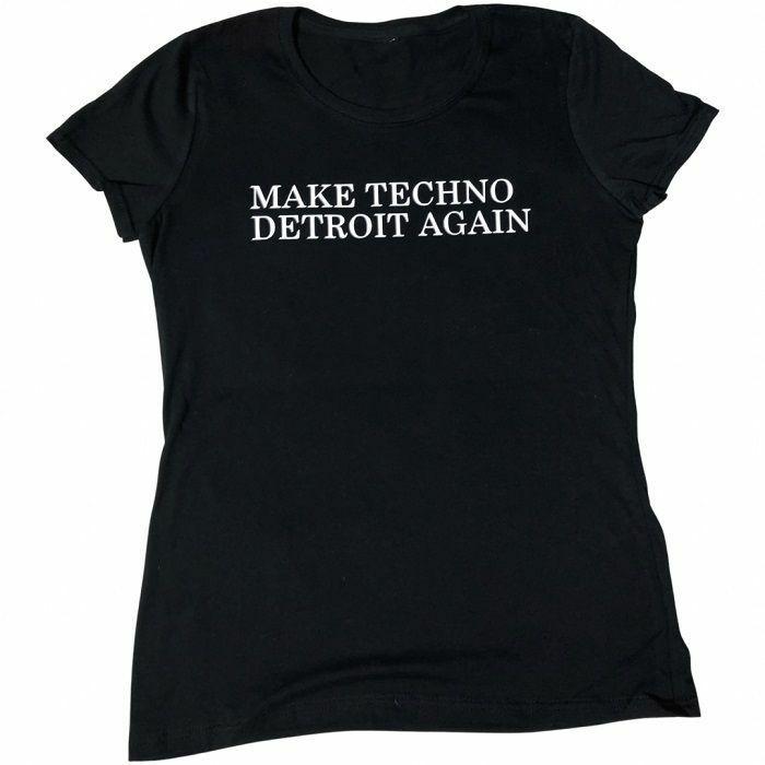 7 DAYS ENTERTAINMENT - 7 Days Entertainment Womens Make Techno Detroit Again T-shirt (black, large)