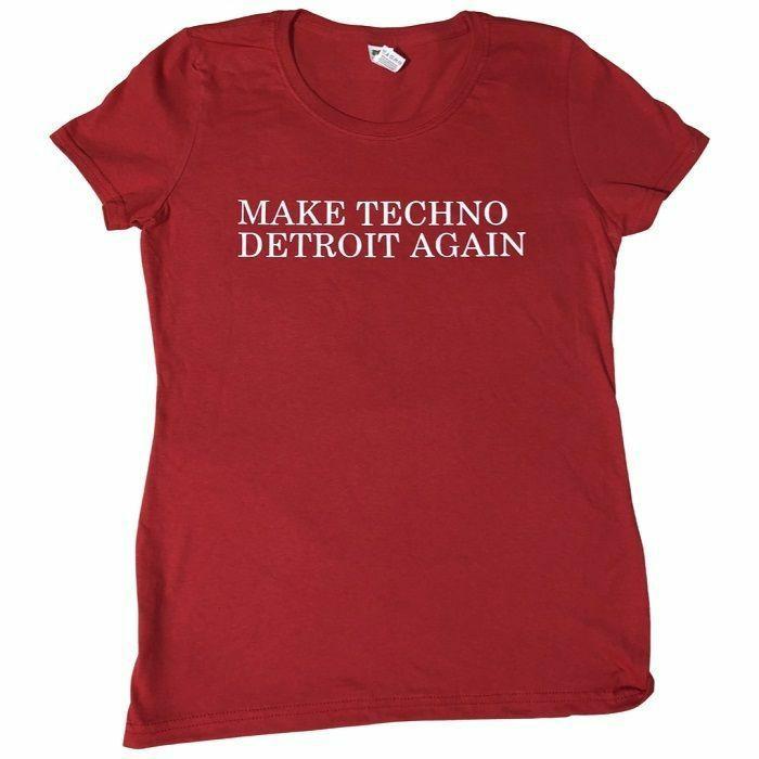 7 DAYS ENTERTAINMENT - 7 Days Entertainment Womens Make Techno Detroit Again T-shirt (red, medium)