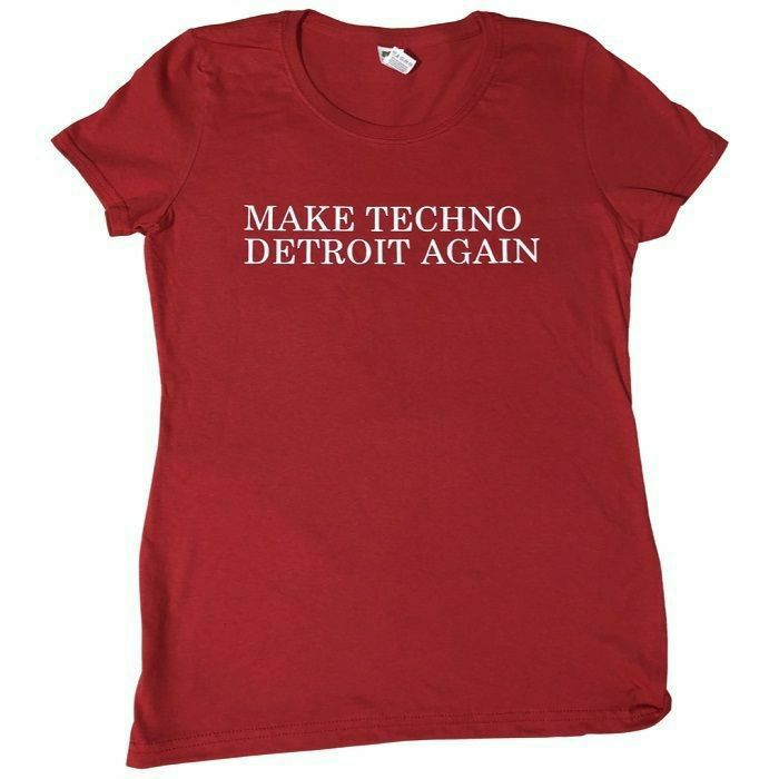 7 DAYS ENTERTAINMENT - 7 Days Entertainment Womens Make Techno Detroit T-shirt (large, red)