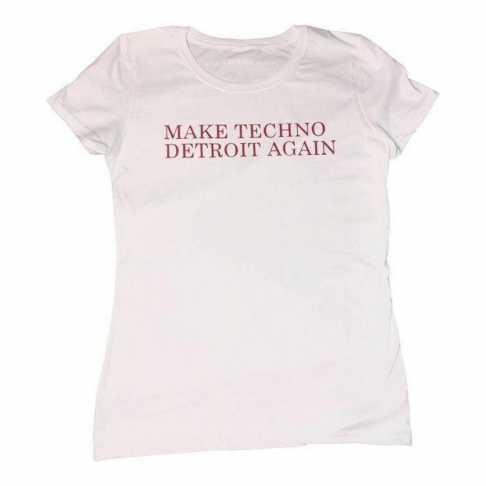 7 DAYS ENTERTAINMENT - 7 Days Entertainment Womens Make Techno Detroit T-shirt (large, white)