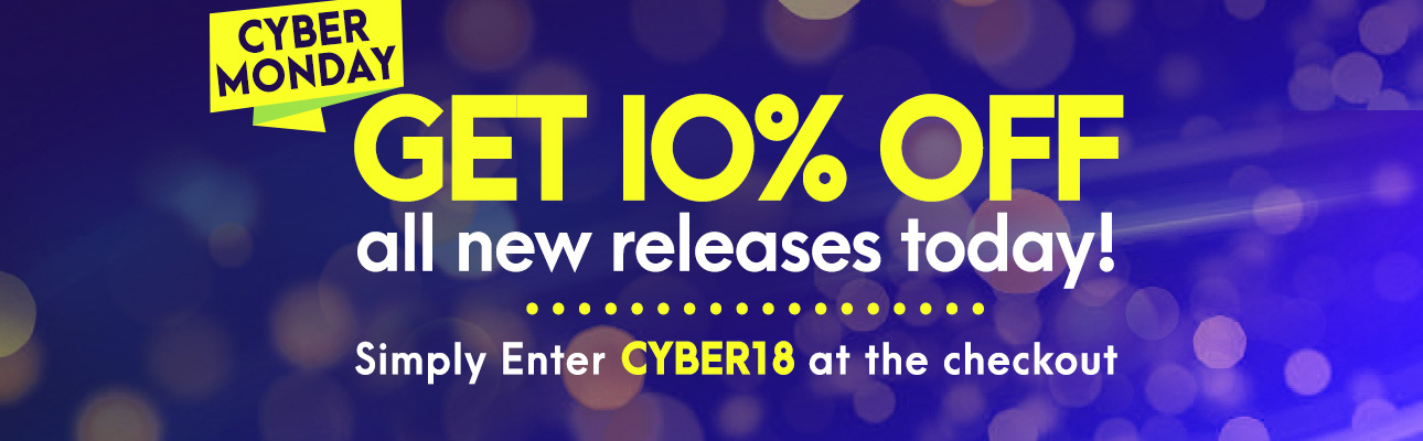 Get 10% off all releases today! Simply enter CYBER18 at the checkout.